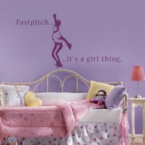 Girls Room Decal - Fastpitch ... Sport Baseball Softball Decal ...