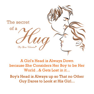Romantic Quotes - The secret of a hug