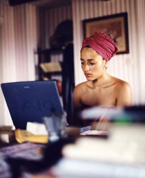 Zadie Smith. Literary girl crush. [Ugh, this is who I want to be ...