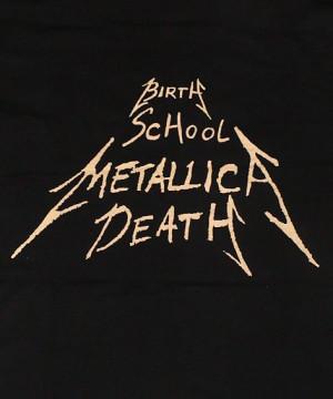 Crossed Arms (Birth, School, Metallica, Death design on rear with ...