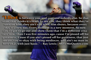 Ray Lewis Picture Quote
