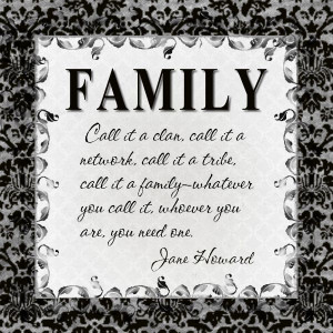 Inspirational Family Quote Small Color