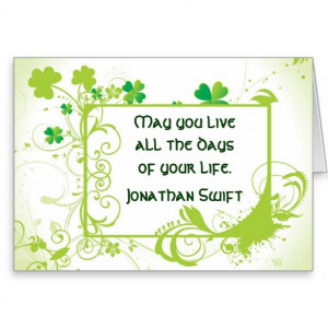 Irish Quote St Patrick's Day Card