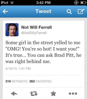 funny picture will ferrell brad pitt hot wanna joke.com