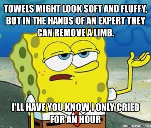 Generate a meme using Tough Spongebob