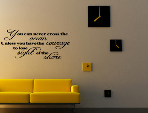 ... -NEVER-CROSS-THE-OCEAN-Vinyl-Wall-Quote-Decal-Inspirational-GIFT-IDEA