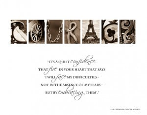 Quotes About Strength and Courage Cancer Awareness