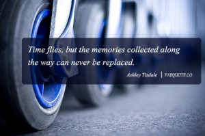 Ashley tisdale time flies quote