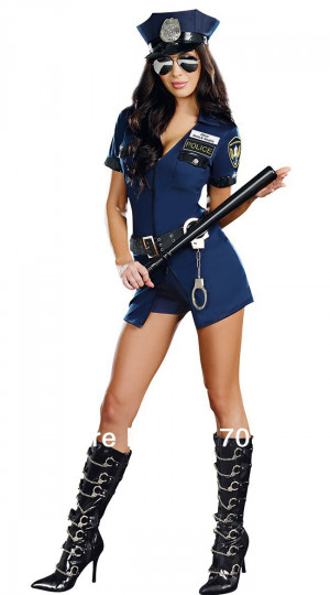 ... Uniform with Handcuffs Women Officer Sheila B. Naughty Police Costume
