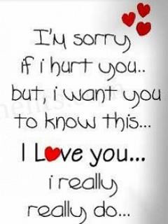 Sorry If I Hurt You But I Want You To Know This, I Love You, I ...