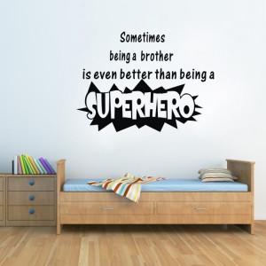 Wall-quotes-Being-a-superhero-funny-wall-stickers-home-decor-home ...