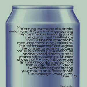 Quotes Picture: warning everyone who drinks soda from a tin can: a ...