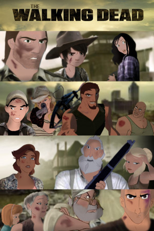 Animated Version of The Walking Dead Cast