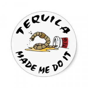 Funny Mexican Tequila Round Stickers by Funny_Mexican_TShirt