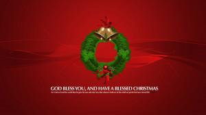 Christmas blessing wallpaper