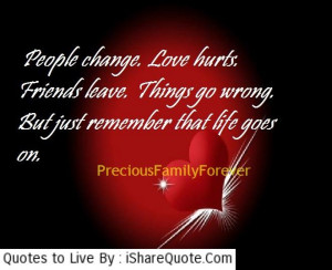 People change, love hurts, friends leave, thing go wrong but…