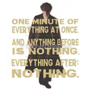 FandomizedRose › Portfolio › peaky blinders quote - one minute