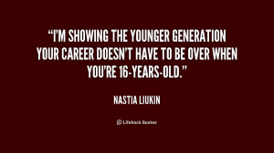showing the younger generation your career doesn't have to be over ...