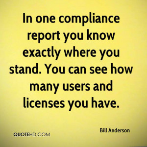 In one compliance report you know exactly where you stand. You can see ...