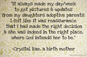 Adoption Quotes For Birth Mothers Why are updates to birth