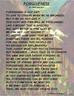 Forgiveness, By Janet Mullaly