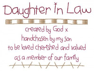 Daughter In Law Poem Sampler 5x7