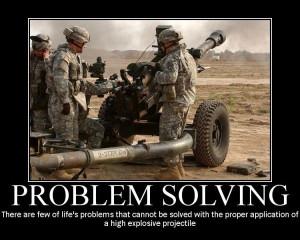 military humor funny joke soldier gun army artillery problem solving