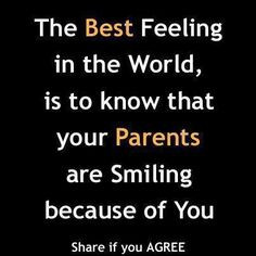 ... proud of the person I am and the way I carry myself as a parent