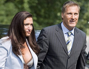 Julie Couillard and Maxime Bernier are seen arriving at Rideau Hall in ...