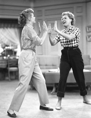 Lucille Ball & Vivian Vance in I Love Lucy's season 3 episode Lucy ...