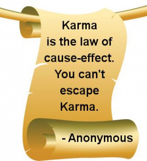 quotes about karma   Famous Quotes and Sayings About Karma