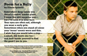 Poem Day Monday - Nov. 4 (Poem for a Bully)