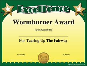 golf awards certificates participation certificate template award ...