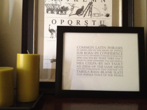 Common Legal Latin Phrases and Lawyer Terms FRAMED Print: Modern ...