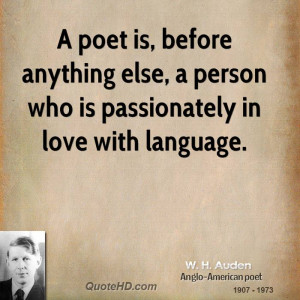 ... anything else, a person who is passionately in love with language