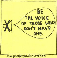 Be the Voice of those Who Don't Have one. World Refugee Day More