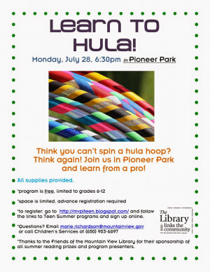Hula Hooping for Teens!