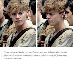 adored Thomas Brodie-Sangster's portrayl of Newt. He got it spot-on ...