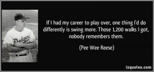 More Pee Wee Reese Quotes