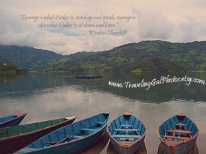 Inspirational art print quotes travel photography serene blue lake ...