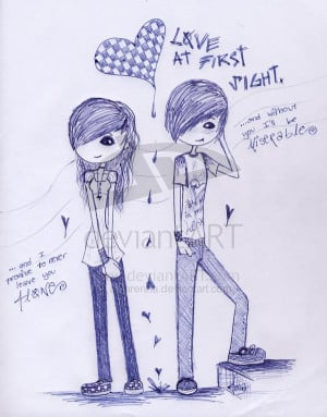 emo love drawings pictures