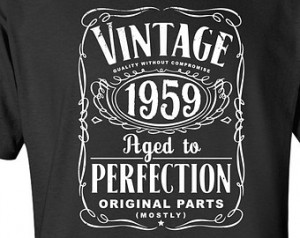 55th Birthday Gift For Men and Women - Vintage 1959 Aged To Perfection ...