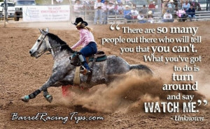 Barrel racer quotes