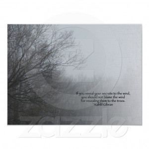 Winter Trees in Fog - Khalil Gibran Quote Poster from Zazzle.com