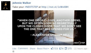 Jonnie Walker, Facebook post, quote post