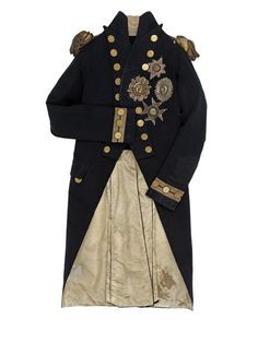 The vice-admiral's undress uniform coat Horatio Nelson (1758-1805) was ...