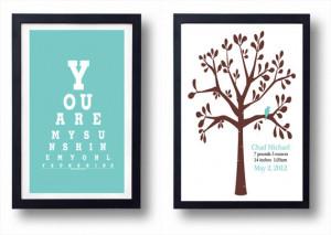 - Nursery Quote-Newborn boy Nursery Gift, New Baby Gift, First Baby ...