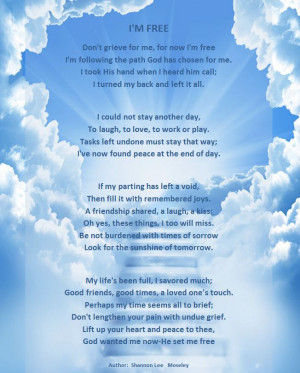 FREE: A beautiful poem that acknowledges a life well-lived