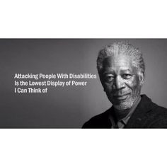Morgan Freeman speaks for disabilities More