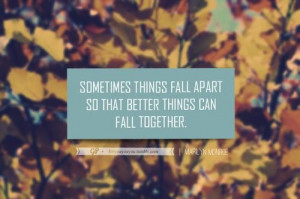 Sometimes things fall apart quote